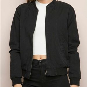 Brandy Melville Black Bomber Jacket